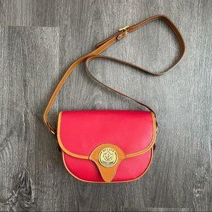 (EUC) DELANE CANADA Red /Brown Leather Vintage Bag